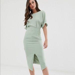 ASOS Mint Green Midi Wiggle Dress